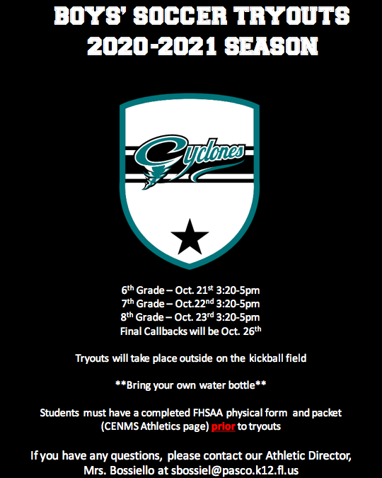 Boys' Soccer Tryouts
