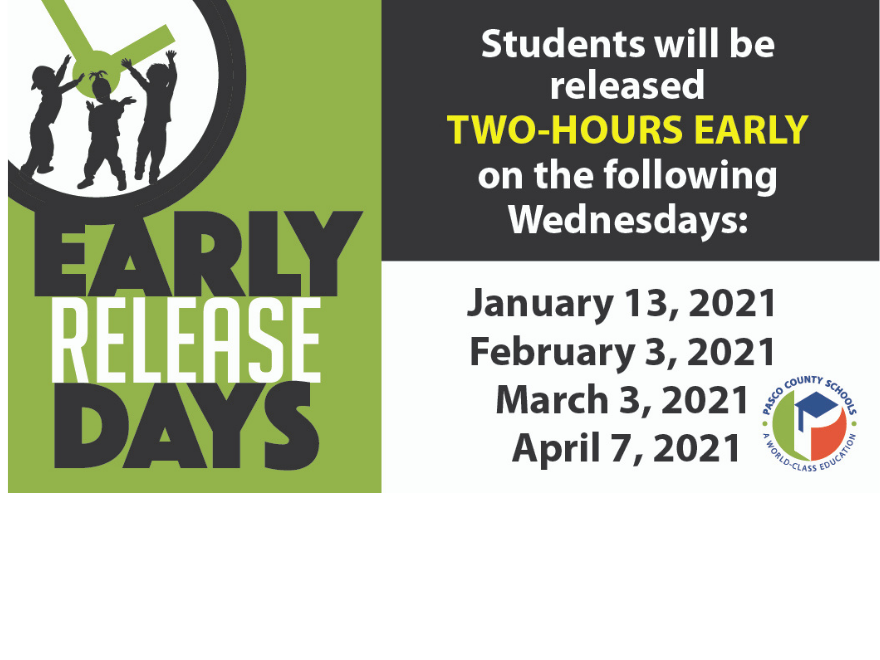 Students will release @ 1:08 pm